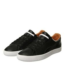 New Mens Puma  Clyde Colorblock 2 Trainers - Black 100% Leather