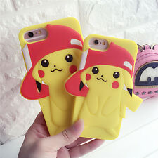 3D Cartoon Pokemon Pikachu Soft Silicone Phone Case Cover For iPhone 6 7 7 Plus
