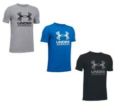 Under Armour Boys Two Tone Big Logo Tee | Junior Training Running Casual T Shirt