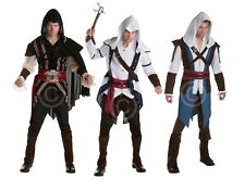 ADULT MENS HALLOWEEN ASSASSINS CREED OUTFITS 3 STYLES FANCY DRESS