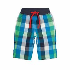 Frugi Green Check Roll Up Trousers