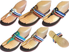 LADIES FLAT TOE POST SHOES FLIP FLOPS SANDALS SUMMER BEACH WOMENS SIZE EU 37-42