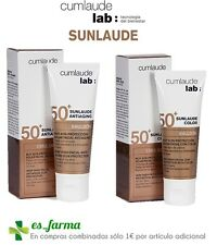 CUMLAUDE SUNLAUDE EMULSION SPF50 50ML ANTI-ÂGE ACIDE HYALURONIQUE COULEUR