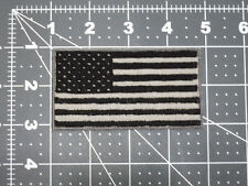 US FLAG BLACK SUBDUED COLOR LIGHT SILVER GRAY GREY TACTICAL MILITARY PATCH BADGE