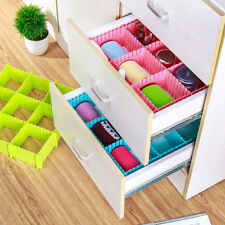 4pcs/set Spacer Storage Box Plastic DIY Grid Drawer Divider Household Grid Sub-g