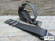 ZULU Nato Grey G10 Nylon Divers, MOD, Military Army Watch Strap Band 20, 22mm