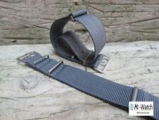 Nato Grey G10  Nylon, Divers, MOD, Military Watch Strap Band 18, 20, 22, 24mm
