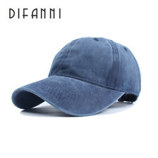 High Quality Washed Cotton Adjustable Solid Color Baseball Cap Unisex Caps Fashi