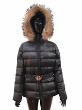 WOMENS DOWN FEATHERS JACKET, RRP £880, SIZE 2/3, BLACK