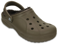 Crocs Adults Classic Fuzz Lined Clog. Classic Clog With Comfy, Warm Liner. Brown