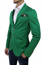 VESTE HOMME ALESSANDRO GILLES MADE IN ITALY VERT CASUAL COTON taille SML