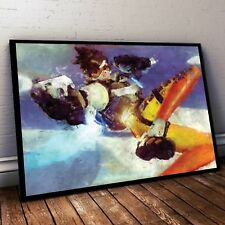 Overwatch Poster. Tracer Painting Print. Tracer Poster