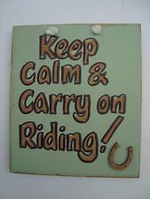 WALL HANGING PLAQUE / SIGN - CARRY ON RIDING
