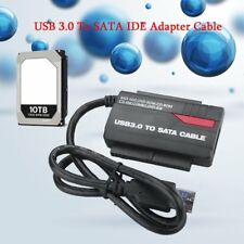 "NEW 891U3 USB 3.0 to 2.5"" 3.5"" HDD SATA IDE Adapter Converter+Power Cable LOT HK"