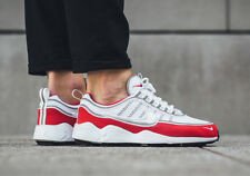 Nike Air Zoom Spiridon White Red Silver Mens Sneakers Trainers Shoes