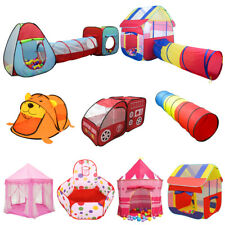 Foldable Kids/Baby Pop Up Tunnel Play Tents Castle Playhouse Ball Pit Hut Toys