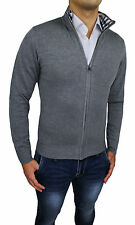 CARDIGAN PULL HOMME DIAMANT GRIS HIVERNAL GOLFINO PULL CASUAL NEUF