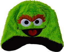 Oscar The Grouch Hat Sesame Street Boys Girls Novelty Winter Ages 1 To 12 Years