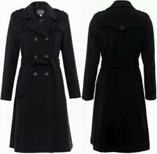 De La Creme New Ladies Double Breasted Cashmere Wool Warm Winter Coat Trench