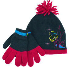 Disney Tinkerbell Hat Gloves Girls Fairies Winter Set Ages 4 To 8 Years