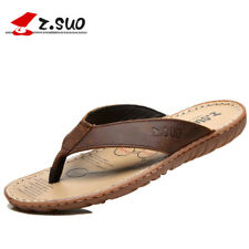 Sell Flip Flops Men Genuine Leather Slippers Summer Fashion Beach Sandals Shoes1