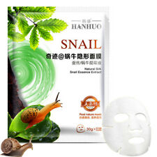 Snail Natural Silk Essence Extract Facial Mask Hyaluronic Acid Face Whitening