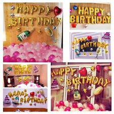 Happy Birthday Balloons Set King Top Aluminum Film Champagne Bottle baloons heli