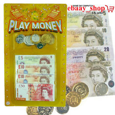 Fake Money Kids Play Fake Pretend Money Role Shops Cash £ Pound Notes Coins Toy