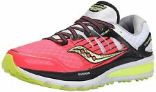 Saucony Womens Triumph ISO 2 Road Terrain Running Shoes - Coral/Silver