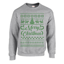 Merry Christmas Retro Horse Xmas Jumper Ugly Sweater Festive Reindeer Jumpers