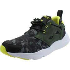 2aef4475f1c2 Mens Reebok Classic FuryLite Yellow Textile Trainers Shoes Size UK ...