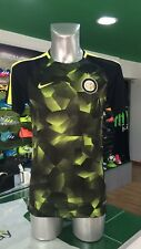 CAMISETA DE FÚTBOL FOOTBALL NIKE PREMATCH PM 2017/2018 INTER NEGRO Y