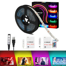 50-200CM USB LED Strip Light Xmas TV Back RGB Color Changing Battery Powered