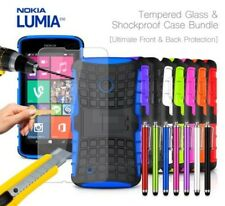 NOKIA LUMIA 530 anti-urto CORAZZA CUSTODIA COVER , STILO & VETRO TEMPERATO