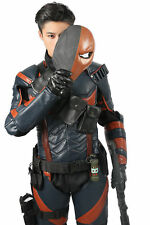 XCOSER Deathstroke Costume Batman Arkham Knight Fighter PU Suit Cosplay Outfit