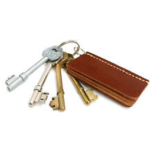 Leather Key Holder Leather Key Ring Custom Leather Key Chain Book Page Style