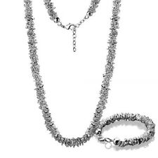 Newbridge Silverware Jewellery Silver Beaded Heart Necklace & Bracelet Set
