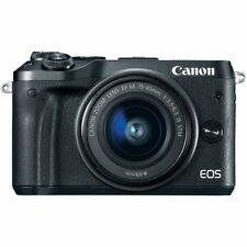 Canon EOS M6 with 15-45mm IS STM Lens Kit Black (Multi) Ship From EU Authenti