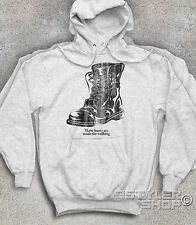 UNISEX SUDADERA BOOTS BOTAS MILITARES N. modelo Sinatra These Boots Are Hecho en