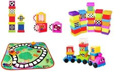 Sassy Sensory Blocks Musical Vehicle Numbers & Letters Set - Mix & Match
