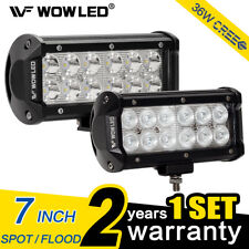 WOW - 36W CREE LED Driving Work Light Bar Offroad Spot Flood Truck SUV Boat Lamp