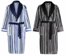 Dressing Gown Mens Thick Fleece Striped Bathrobe Walker Reid Nightwear Bathrobe