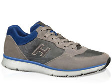 Hogan sneakers trainers shoes in suede with high-tech fabric inserts