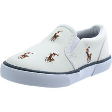 Polo Ralph Lauren Bal Harbour Repeat Multi Pony Bianco In Pelle Bambino