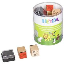 Heyda Themed Rubber Stamps & Ink Pad Set
