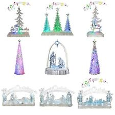 Pre-Lit LED Magical Colour Changing Glitter Tree Candle Angel Christmas Decor