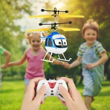 Induction Flying Toys RC Helicopter Cartoon Remote Control Drone Kid Plane ToyDD