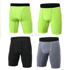 Mens Male Sports Compression Fitness Shorts Athletic Base Layer Quick-dry Pants