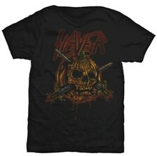 SLAYER Skull Pumpkin T Shirt Unisex Halloween Official Band Merch Men's