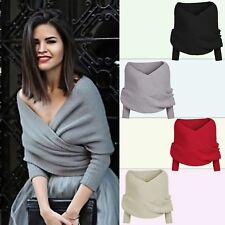 Suéter Otoño Mujer Hombro desnudo Cuello-V Tops Sexy Camisa Slim Knitted Sweater